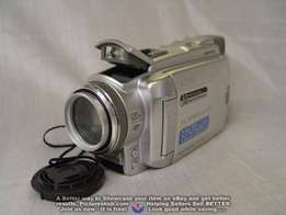 Sony camcorder, ,Tape and Card stick.
