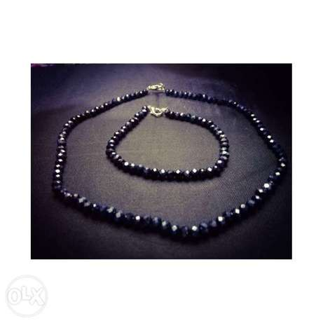 Necklace and bracelet set ( different colors available)
