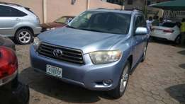 Toyota Highlander 2008 blue Sports