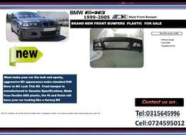 BMW E46 3 Series M3 STYLE Brand New Front Plastic bumpers R2300