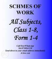 Schemes of Work Primary/Secondary