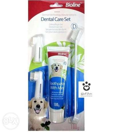 Dog Dental Care Set Toothbrush and Toothpaste