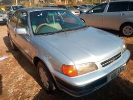 Toyota corsa model 1998 silver color in excellent condition