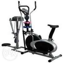 Massager with stationary bike