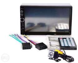7-Inch Car Video Player with Bluetooth and Rearview Camera.