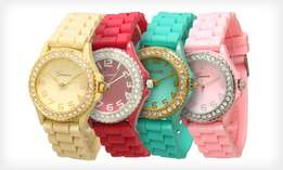 Original Geneva Iced Bling Bling Watches For Sale