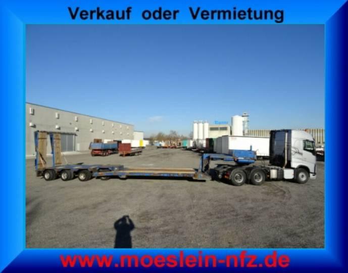 Goldhofer STZ-VL4-38/80 4 Achs Tiefbett- Satteltiefladerhe - 1995