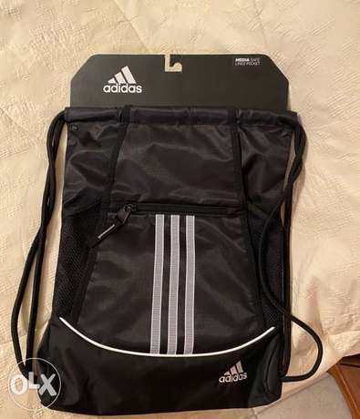 Original New Adidas sports bag with media safe lined pocket