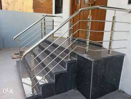 Stainless hand rails.