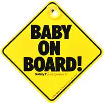Safety 1st Baby on Board car sign (Yellow)