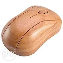 Bamboo wireless optical Mouse healthy sweat resistant anti radiation