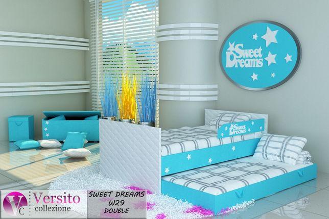 łóżko Dla Dziecka Piętrowe Tapicerowanematerace I Barierka