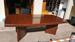 Mahogany finish boardroom table
