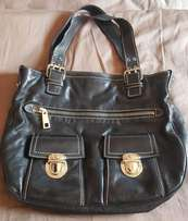 "Authentic Marc Jacobs ""Stella"" Hobo Handbag - Black Leather"