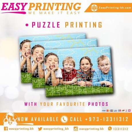 Puzzle Picture Printing - An Customized Gift.