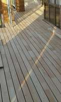 We build new and sanding of old wooden decking professionally