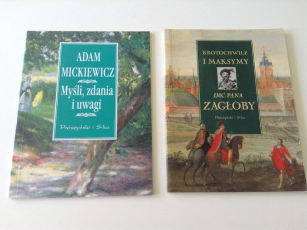 Mickiewicz Zagłoba 2 Książeczki Cytaty Myśli Na Prezent