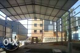 fabricate and install all steel structures.