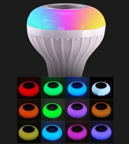 Музыкальная светодиодная лампа Bluetooth 3.0, Е27, 12W Киев - изображение 2