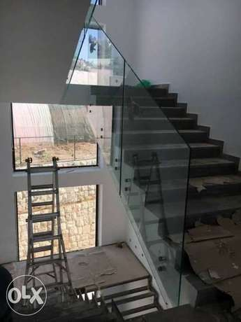 Glass and mirror