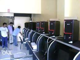 Cyber cafe installations/design