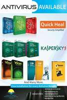 Antivirus Available. Kaspersky & Quickheal