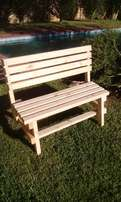 Garden benches and custom furniture