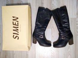 Стильные кожаные сапоги 39 размер 5e8c64e8a778e