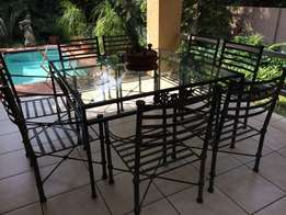 8 seater wrought iron patio set