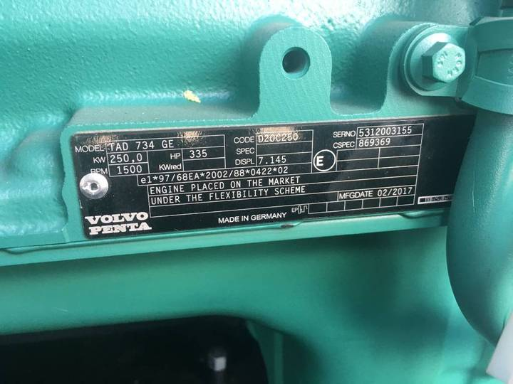 Volvo TAD734GE - 275 kVA Generator - DPX-17705 - 2019 - image 16