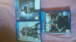 Play station 4 and 3 games