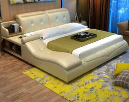 Double bed with pneumatic box safe