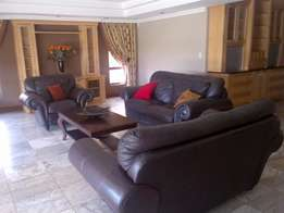 Kudu Leather Lounge Suite For Sale (3, 2 & single seater) R25000 neg