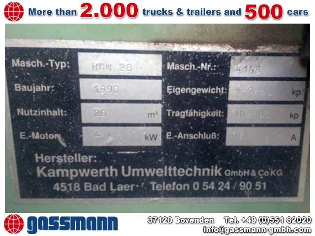 KAPWERTH HGN 20 Pressmüll Container - 1990