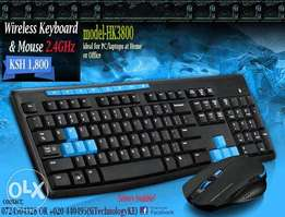 Genuine WIRELESS KEYBOARD plus Mouse. Compatible with PC & Laptops.