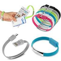 Wrist band charging cables