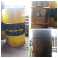 Used 210 litre oil drums.