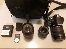 Canon EOS 650D bundle with extras. Hardly used.