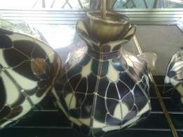 Stain lead glass lamp shades