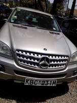 Mercedes ML320, 3200cc Diesel, year2008, gold colour, leather intetior