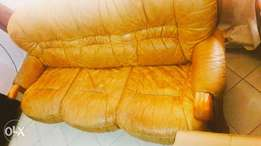 Real leather Sofa at affordable price