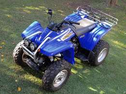 Yamaha Wolverine Quad 350 4x4 with sturdy Roland Axle trailer for sale  Forest Town
