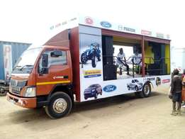 Eicher Pro10.95 Roadshow Truck, 7Ton, long chassis & High power at3.2M