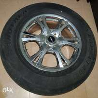 Dunlop Tyres with Rims set of 4 used in good condition for quick sale