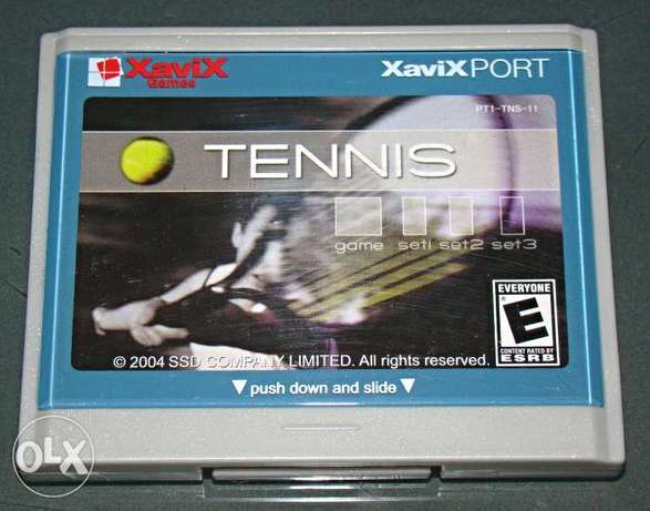 xavix port tennis video game cartrige