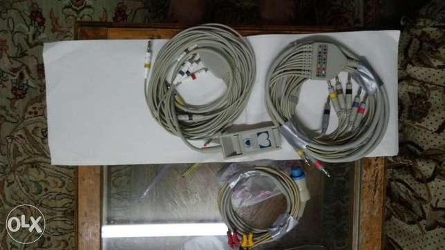 Patient Cable 10 leads new origenal and 3leads cable used وسط القاهرة -  2