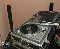 Dj turntable Audio Technical mk5 with flight case and pin
