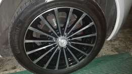 15 inch A line rims and tyres