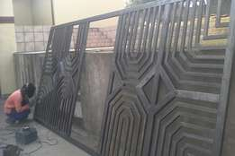 Sliding gates , palisade fencing , carports , stuctures