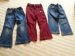 Three pants for girls